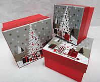 Коробка подарочная новогодняя 6122s (комплект 3 шт)