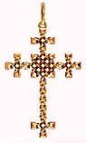 Крест серебряный Плетенка 411 750, фото 2