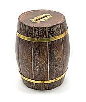 """Копилка """"Бочка"""" деревянная (13,5х8,5х8,5см),деревянные шкатулки,оригинальные подарки"""