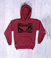 Мужская зимняя кофта-кенгуру, худи на флисе, свитшот BadBoy, Реплика
