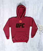 Мужская зимняя кофта-кенгуру, худи на флисе, свитшот UFC, Реплика