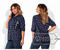 4bc8705a7a0 Рубашка свободная из батиста с рукавами на патиках и нагрудными карманами  на молниях X5101