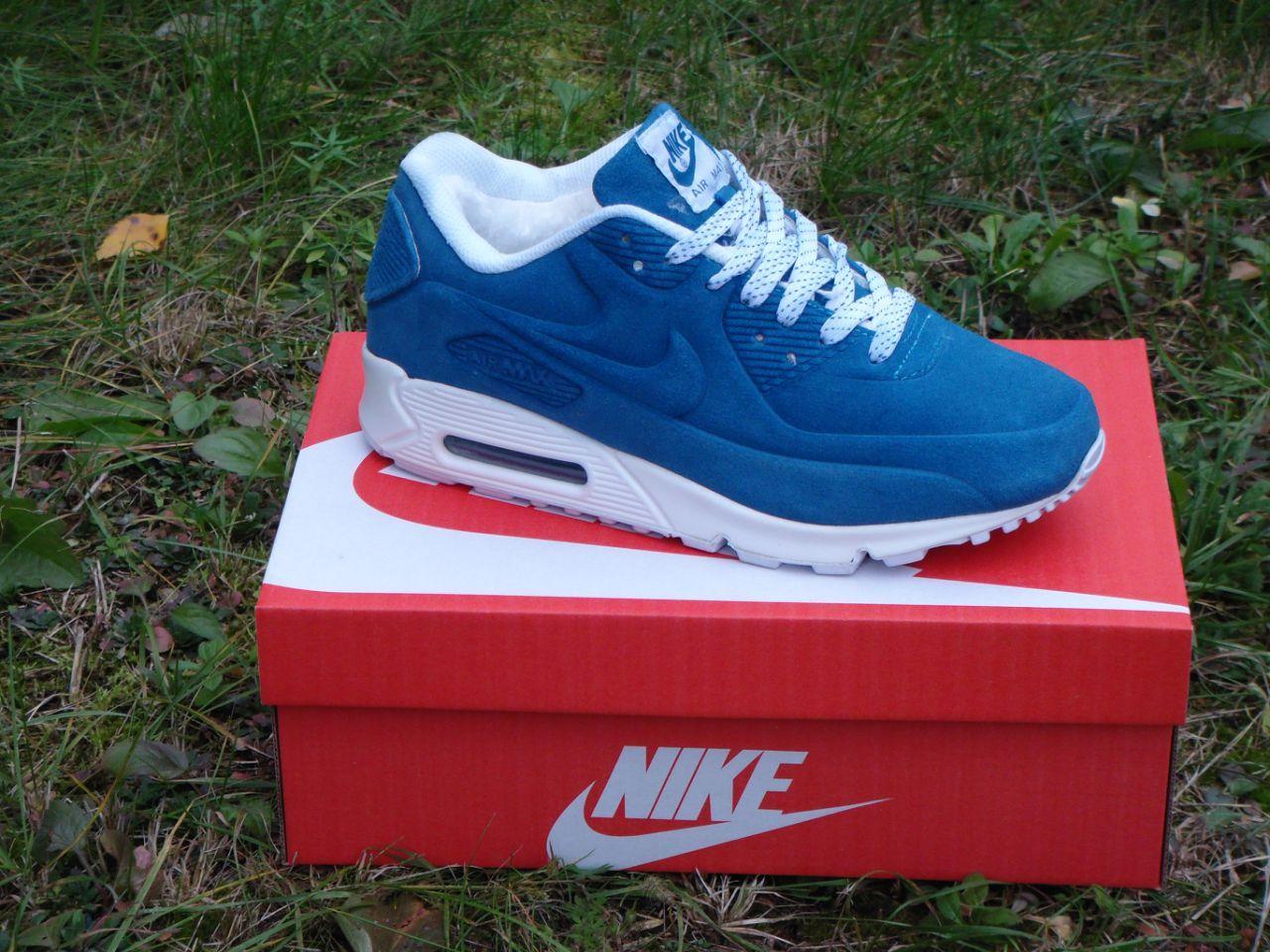 4fe86352 Мужские зимние кроссовки Nike голубые реплика ( Артикул : ДОК-10855 ) -  Mood-