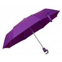 Фиолетовый зонт складной автоматический, 9 цветов, с нанесением логотипов, для рекламных целей