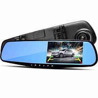 Автомобильный видеорегистратор зеркало регистратор с одной камерой DVR 138W 3,8` one camera (Gold)