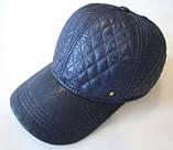 Бейсболка утеплённая из стёганной плащёвки серая,чёрная,синяя 56-58-60, фото 4