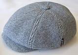 Кепка мужская  воьмиклинка светло серая в полоску 56  разм, фото 2
