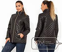 Куртка демисезонная с подкладом на синтепоне 100, застежкой на молнии и высоким воротом X9121
