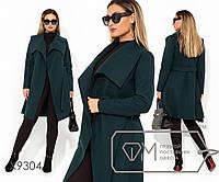Кашемировое пальто на запах с воротником апаш и прорезными карманами, 4 цвета
