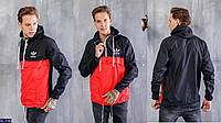 Мужская ветровка (46, 48, 50, 52) 1137 анорак мужской фото в жизни  тонкая легкая  плащевка . фурнитура : змейки турция (1основная змейка,