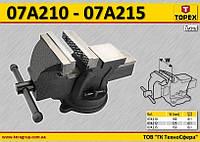 Тиски слесарные поворотные W-100мм,  TOPEX  07A210