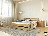 Ліжко двоспальне 160х200 з натурального дерева бук в спальню Ліра Лев