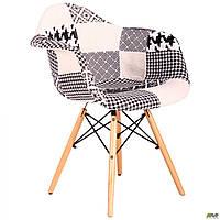 Кресло Salex FB Wood Patchwork черно-белый TM AMF, фото 1