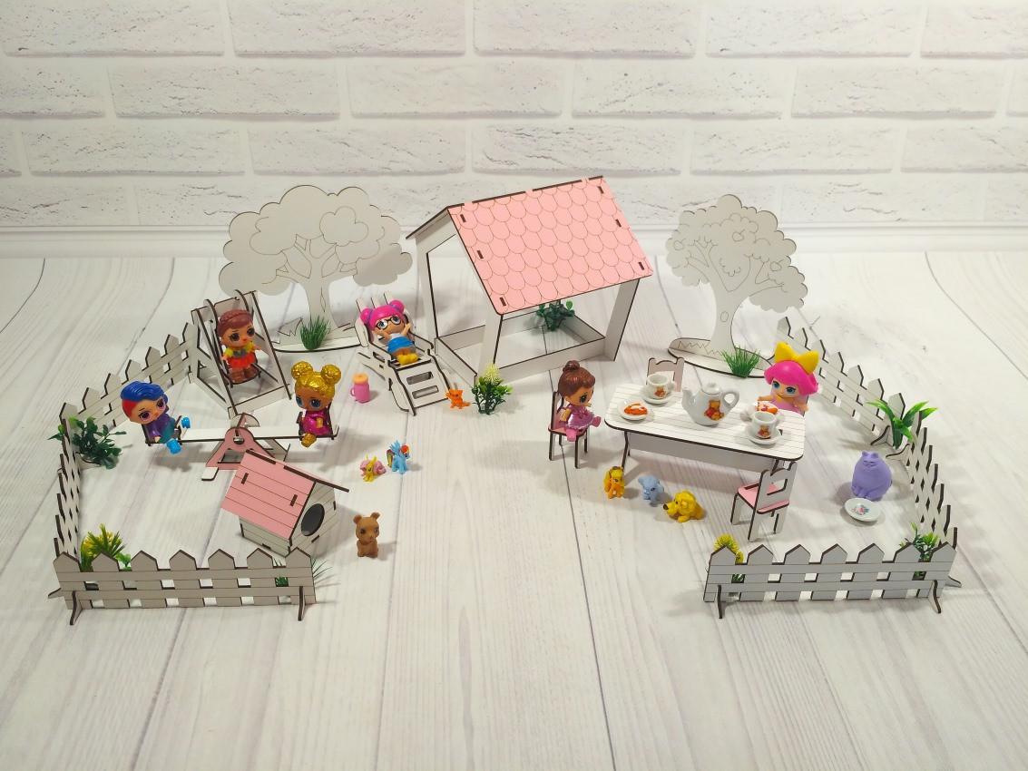 Набор мебели Дворик с беседкой 1110. 18 предметов