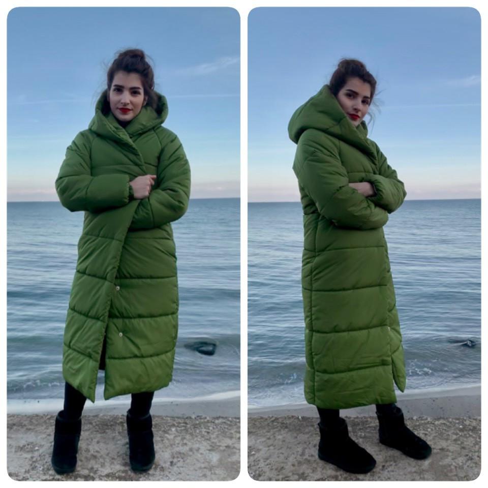 Пальто зима, артикул 521, цвет фисташка