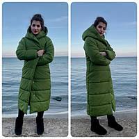 Пальто зима, артикул М521, цвет фисташка