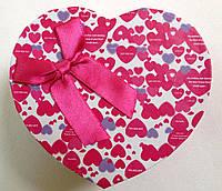 Подарочная коробка для часов сердце Розовая, фото 1