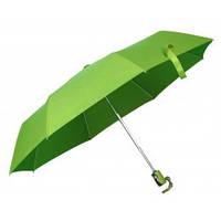 Зелений автоматичний зонт складаний, 9 кольорів, з нанесенням логотипів, для реклами, фото 1