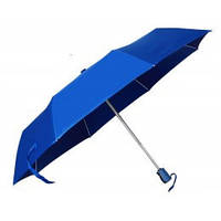 Синий зонт складной автоматический, 9 цветов, с нанесением логотипов, для рекламы