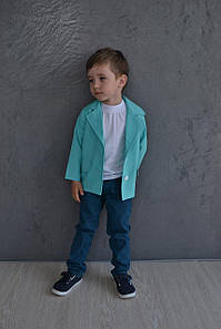 Пиджак для мальчика в расцветках. МО-9-1218