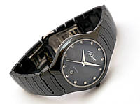 Мужские часы Axiver - high-tech керамика, черные, не царапаются