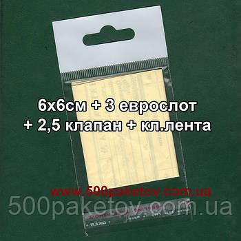 Пакет с еврослотом 8,5х6,5cм +к/л