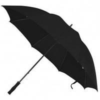 Черный, прочный и большой зонт, 9 цветов, с нанесением логотипов, для рекламы