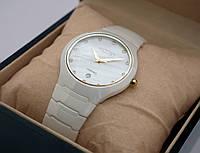 Мужские часы Axiver - high-tech керамика, белые, не царапаются