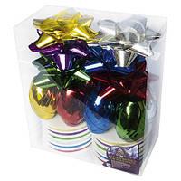 Набор декора для праздничной упаковки 10м*5мм (4банта, 6лент) 8992