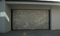 Секционные гаражные ворота KRUZIK 2750-3000 х 2380-2500мм. Эксклюзивный дизайн. Облицовочный камень