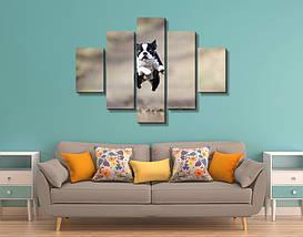 Модульная картина, холст, Животные, 90x110см.  (30x20-2/55x20-2/90x20), фото 2