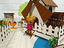 Дворик для кукол Веселое ранчо с механической Мельницей 1202. 26 предметов, фото 3