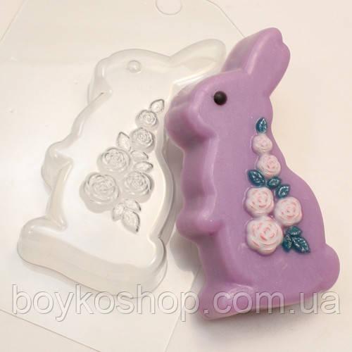 Форма для мыла Кролик с розами