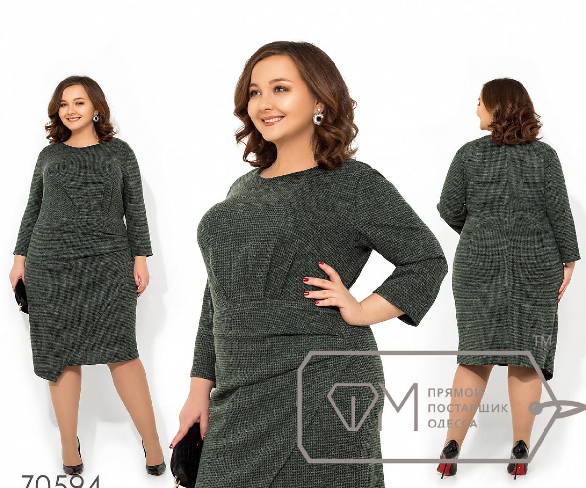 1db5b2f55fc Платье Из Трикотажа Петля с Круглым Вырезом