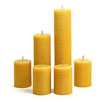 Набор Свечей Восковых Eco Candles Ассорти 6 шт. (26 см, 17,5 см, 8,5 см), эко свечи из вощины, фото 1