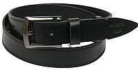 Мужской кожаный ремень под джинсы Skipper 1077-38 черный ДхШ: 140х3,8 см.