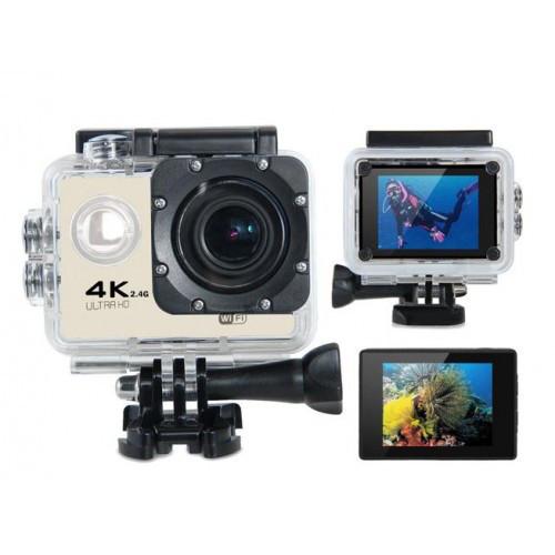 Екшн камер - Full HD 4K Wi-Fi з пультом ДУ, водостійким кейсом, wi-fi, кріплення