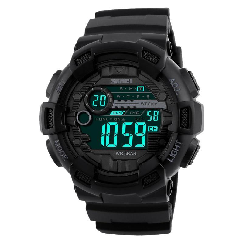 Тактические часы Skmei 1243 Black