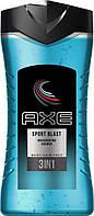 """Гель для душа AXE """"Sport Blast 3 in 1""""  250мл."""