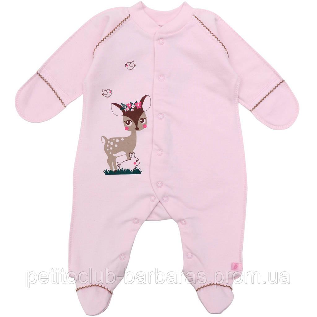 Человечек Малышка лань розовый футер для девочки (Minikin, Украина)