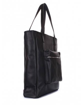Черная сумка натуральная кожа 6528-11, фото 2