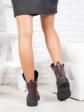 Ботинки  Angelina бордо кожа 6721-28, фото 2