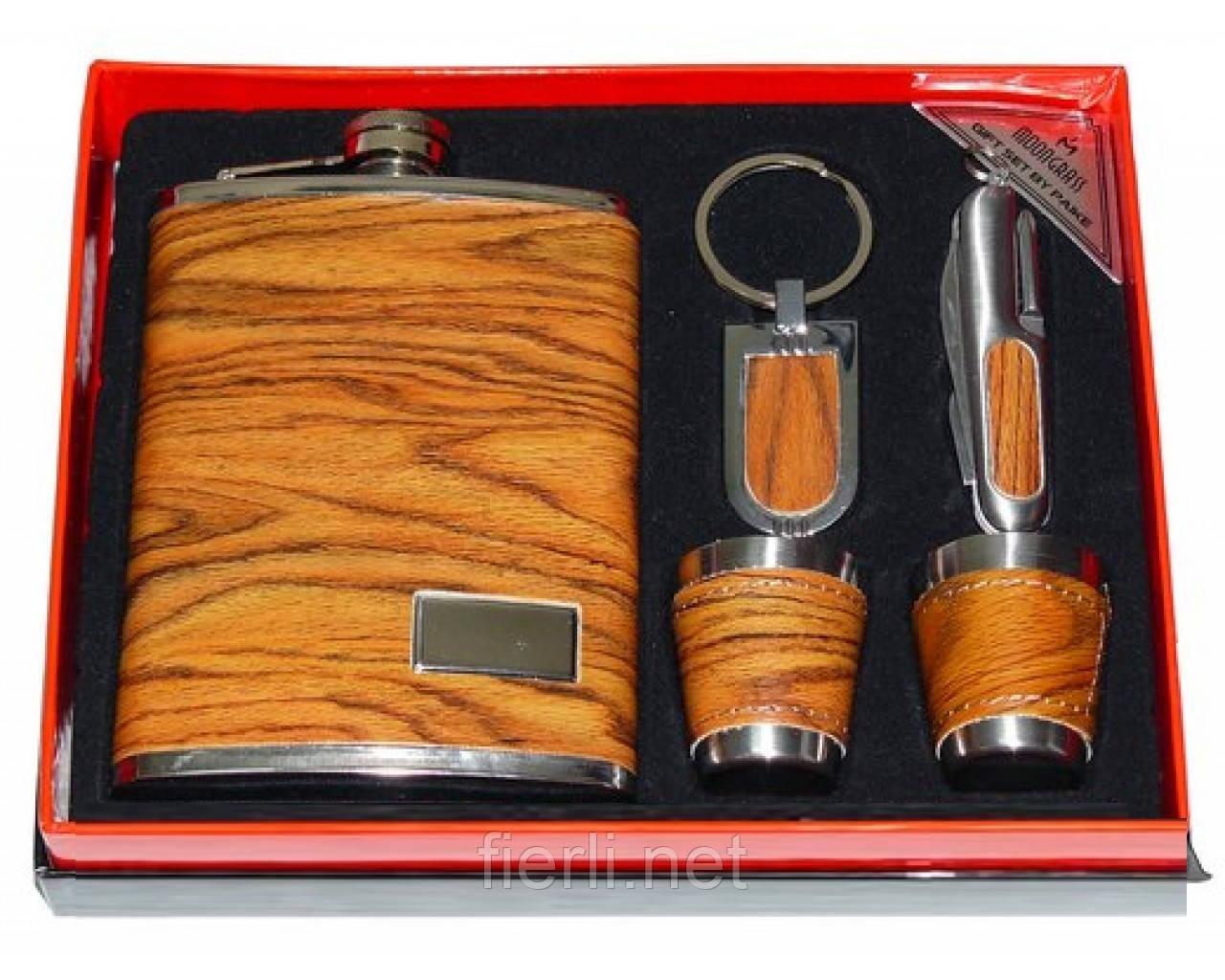 Подарочный набор Moongrass 5 в 1 -фляга/стопки/брелок/нож