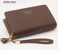 Мужское фирменное портмоне Polo - барсетка Поло- клатч на руку