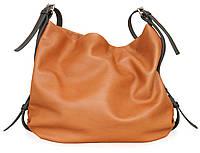Hobo bag ocher, сумка-мешок рыжая (охра)