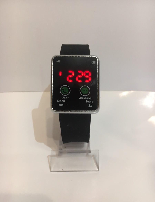 Наручные электронные LED часы, черный с серебристым