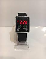 Наручные электронные LED часы, черный с серебристым, фото 1