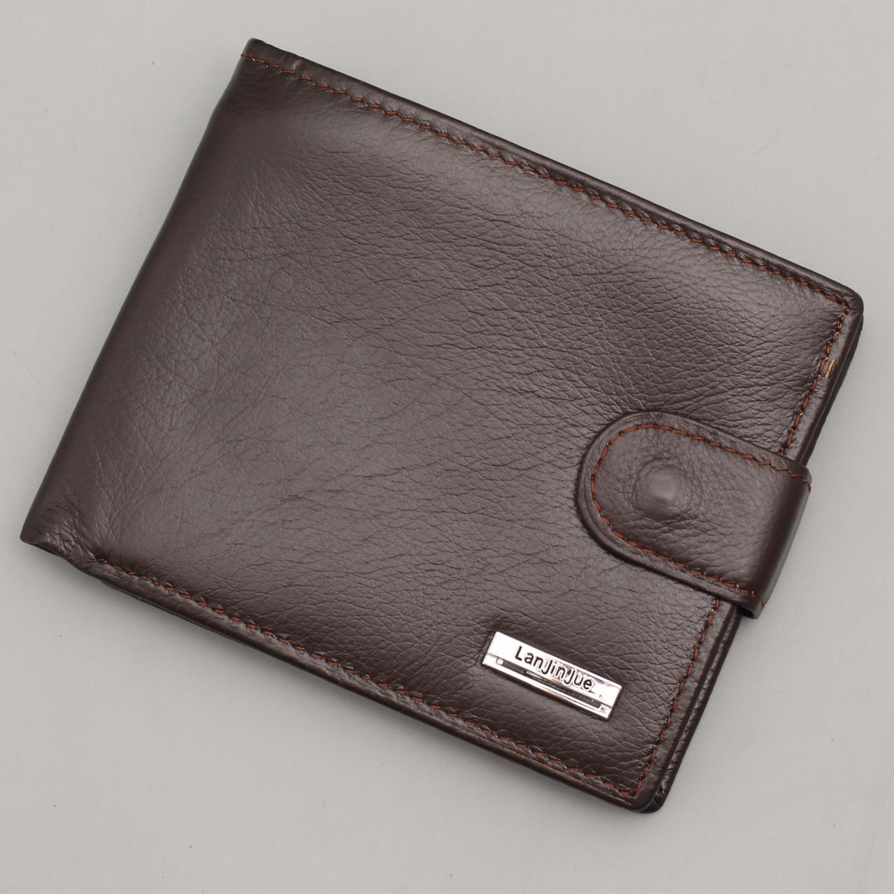 Кошелек мужской кожаный коричневый Leather Master