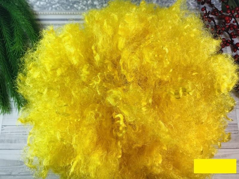 Парик Клоуна большой кудрявый жёлтый