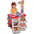 Детский игровой набор Магазин, со сканером, кассой, холодильником 668-02, со звуковыми и световыми эффектами, фото 4